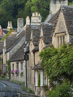 Picturesque Cottages in the Beautiful Cotswolds Village of Castle Combe, Wiltshire, England by Adam Burton
