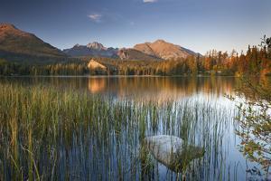 Strbske Pleso Lake in the Tatra Mountains, Slovakia, Europe. Autumn by Adam Burton