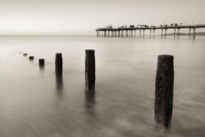 Teignmouth Pier and Coastal Defences at Teignmouth, South Devon, England. Summer by Adam Burton