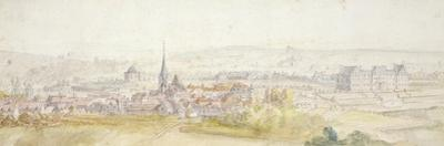 Distant View of a Town with a Chateau on the Right