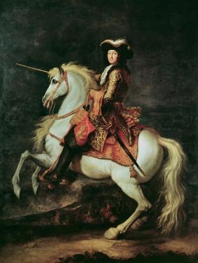 Portrait of Louis Xiv on a Horse by Adam Frans van der Meulen