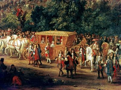 The Entry of Louis XIV (1638-1715) and Maria Theresa (1638-83) into Arras, 30th July 1667 by Adam Frans van der Meulen