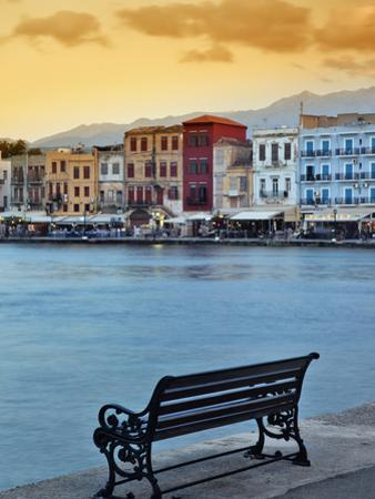 Chania at Dusk, Crete, Greece by Adam Jones