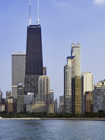 Chicago Skyline and John Hancock Building, Chicago, Illinois by Adam Jones