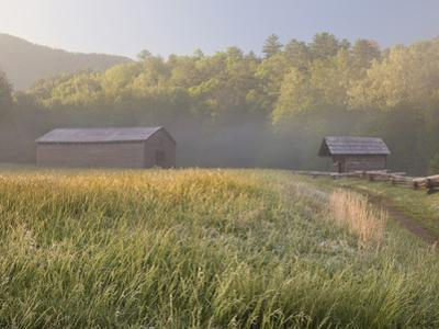 Dan Lawson Place at Sunrise, Cades Cove, Great Smoky Mountains National Park, Tennessee, Usa by Adam Jones