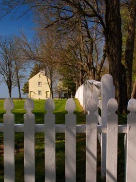 Distinctive Fence of Shaker Village of Pleasant Hill, Kentucky, USA by Adam Jones