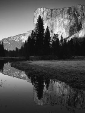 El Capitan Reflected in Merced River, Yosemite National Park, California, USA by Adam Jones