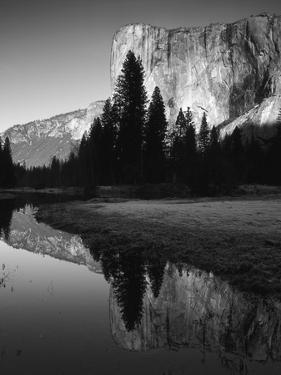 El Capitan Reflected in Merced River, Yosemite National Park, California, USA by Adam Jones