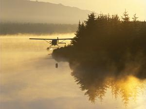 Float Plane on Beluga Lake at Dawn, Alaska, USA by Adam Jones