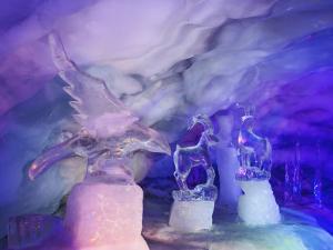 Ice Sculptures inside Glacier Palace, Klein Matterhorn, Switzerland by Adam Jones