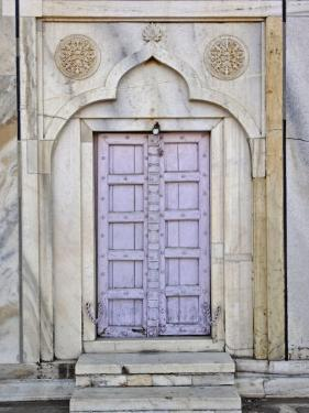 Lavender colored door, Taj Mahal, Agra, India by Adam Jones
