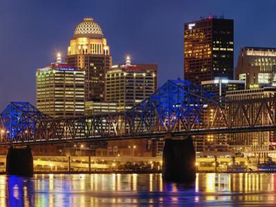 Louisville Skyline at Dusk by Adam Jones
