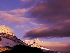 Misty Mountain Peaks at Sunrise, Yoho National Park, British Columbia, Canada by Adam Jones