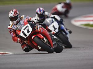 Motorcycle Racer, Mid Ohio Raceway, Lexington, Ohio, USA by Adam Jones