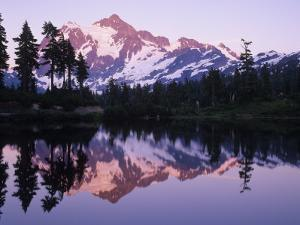 Mt. Shuksan Mirrored on Picture Lake, North Cascades National Park, Washington, USA by Adam Jones