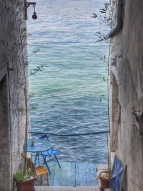 Oceanside Seating For Two, Rovigno, Croatia by Adam Jones