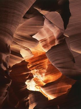 Red Sandstone Walls of Lower Antelope Canyon, Page, Arizona, USA by Adam Jones
