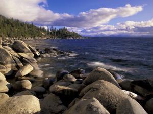 Shoreline of Boulders, Lake Tahoe, California, USA by Adam Jones