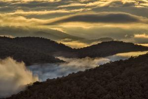 Sunrise and Mountain Mist, North Carolina by Adam Jones
