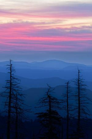 Sunrise from Clingmans Dome, Great Smoky Mountains National Park, Tennessee by Adam Jones