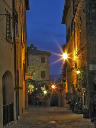 Twilight in Pienza, Italy, Tuscany by Adam Jones
