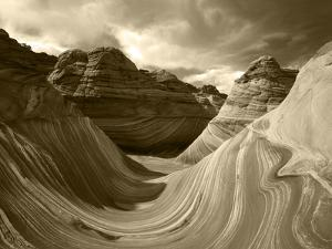 USA, Arizona, Paria Canyon, The Wave formation in Coyote Buttes by Adam Jones