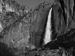 View of Upper Yosemite Falls and Rainbow, Yosemite National Park, California, USA by Adam Jones