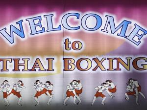 Welcome To Thai Boxing, Chiang Mai, Thailand by Adam Jones