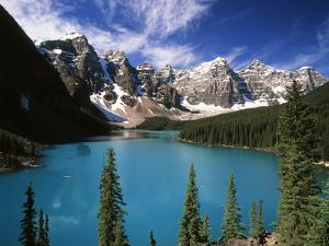 Wenkchemna Peaks Reflected in Moraine Lake, Banff National Park, Alberta, Canada by Adam Jones