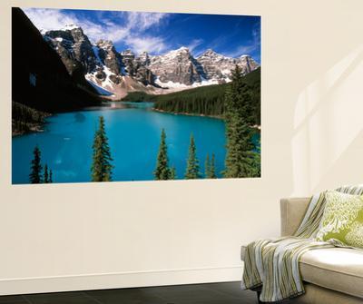 Wenkchemna Peaks Reflected in Moraine Lake, Banff National Park, Alberta, Canada by Adam Jones
