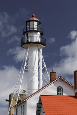 Whitefish Point Lighthouse, the oldest operating light on Lake Superior, Michigan by Adam Jones