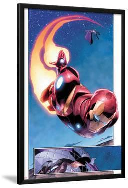 AVX: Vs No.1: Panels with Iron Man Flying by Adam Kubert