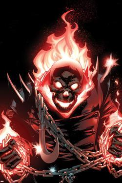 Ghost Rider No.1 Cover: Ghost Rider Flaming by Adam Kubert