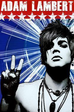 Adam Lambert Peace Music Poster Print