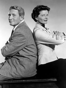 ADAM'S RIB, 1949 directed by GEORGE CUKOR with Spencer Tracy and Katharine Hepburn (b/w photo)