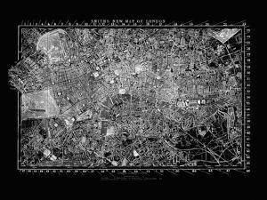 London Map Circa 1860 by Adam Shaw