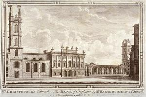 Bank of England, St Christopher-Le-Stocks and St Bartholomew-By-The-Exchange, London, C1775 by Adam Smith