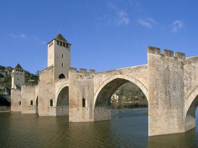 Valentre Bridge, Cahors, Quercy Region, Lot, France