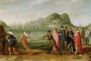 Victory of the Dutch over the Spanish Fleet at Gibraltar by Adam Willaerts