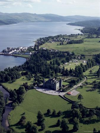 Aerial View of Inverary Castle and Loch Fyne, Inverary, Scotland, United Kingdom by Adam Woolfitt