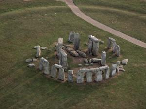 Aerial View of Stonehenge, Unesco World Heritage Site, Salisbury Plain, Wiltshire, England by Adam Woolfitt