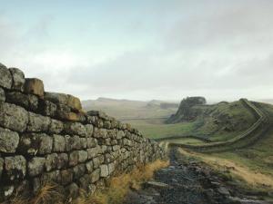 Hadrian's Wall, Towards Crag Lough, Northumberland England, UK by Adam Woolfitt