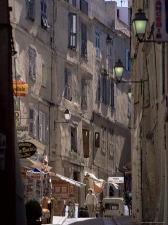 Narrow Street, Bonifacio, Corsica, France by Adam Woolfitt