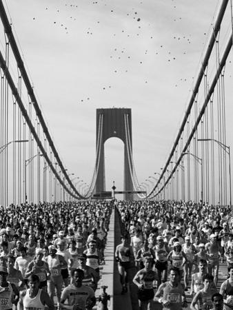 Runners, Marathon, New York, New York State, USA by Adam Woolfitt
