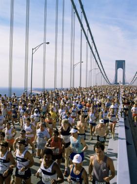 Runners, Marathon, New York, New York State, USA by Adam Woolfitt