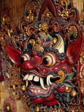 Traditional Balinese Wooden Mask for Sale in Ubud, Ubud, Indonesia by Adams Gregory