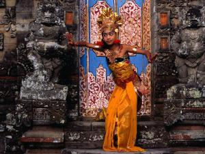 Young Girl at Temple Ceremony in Sengkidu, Indonesia by Adams Gregory