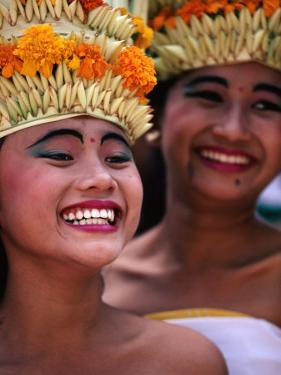 Young Rejang Dancers from Denpasar at Opening Ceremony of Bali Arts Festival, Denpasar, Indonesia by Adams Gregory