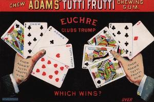 Adams' Tutti Frutti Chewing Gum Trade Card