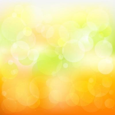 Abstract Orange And Yellow With Stars